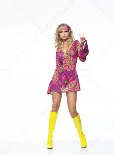 Hippie Girl Dress Adult Costume