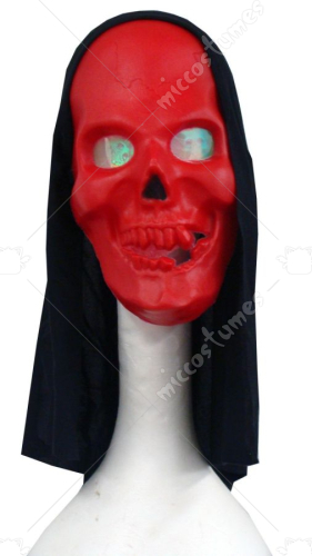 Hologram Red Skull Mask