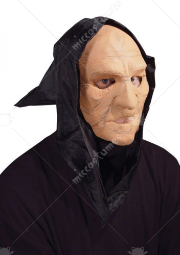 Hooded Flexi Face Old Man Mask