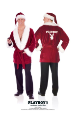 Hugh Hefner Santa Robe and Hat Costume