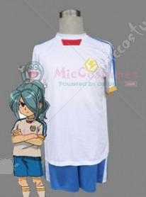Inazuma Eleven Japanese National Soccer Team Summer White Unifom Men M