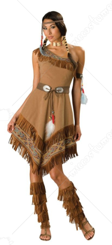 Indian Maiden One Shoulder Costume