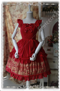 Infanta Rose Palace Gold Stamping Lolita Dress