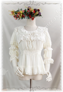 Infanta Three-quarter Sleeve Chiffon Lolita Blouse