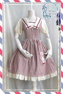 Infanta Letter and Stripes Lolita Dress