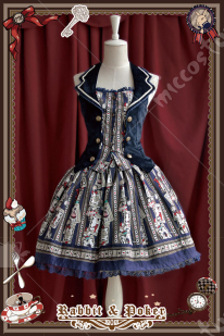 Infanta Rabbit&Poker Lolita Skirt Four Colors