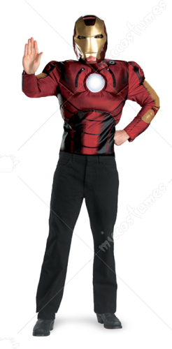 Iron Man Movie Muscle Adult Costume