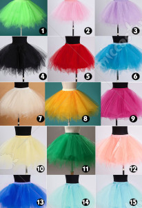 Japanese Girls Tutu Ballet Ruffle Bridal Pettiskirt Skirts
