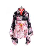 Japanese Kimono Lolita Maid Uniform Outfit Cosplay Costume
