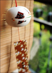 Japanese Ceramic Wind Chime Kite