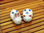 Japanese Chopsticks Rest Bunny Cat Set