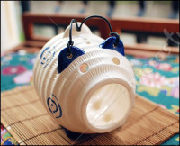 Japanese Dark Blue Piggy Ceramic Mosquito Coil Burner