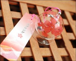 Japanese Glass Wind Chime Blossom Sakura