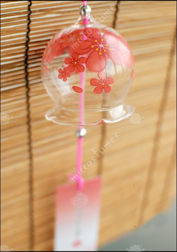 Japanese Glass Wind Chime Blossom Sakura