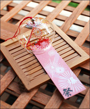 Japanese Glass Wind Chime Firework