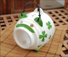 Japanese Lucky Clover Piggy Ceramic Mosquito Coil Burner