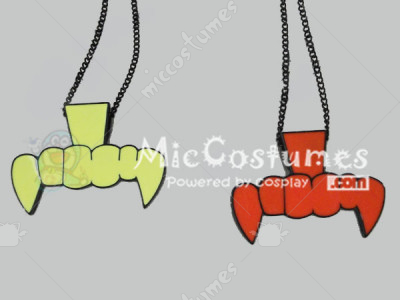 Japanese Nadia Candy stripper Zipper Devil Necklace
