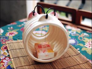 Japanese Sakura Piggy Ceramic Mosquito Coil Burner