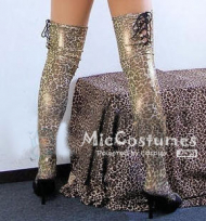 Japanese Sexy Gold Leopard Long Legse Stocking