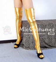 Japanese Sexy Gold Long Legs Stocking
