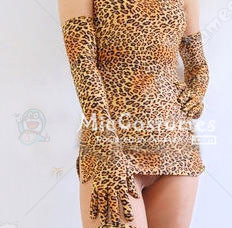 Japanese Sexy Leopard Long Sleeve Gloves