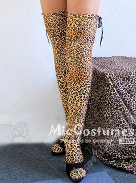 Japanese Sexy Lycra Leopard Long Legs Stocking