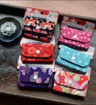 Japanese Style Flowers Card Holder