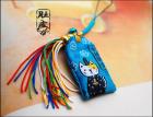 Japanese Kimono Cat Omamori Phone Chain