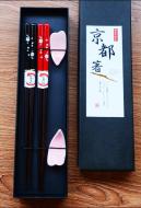 Japanese Sakura Chopsticks and Rest Set