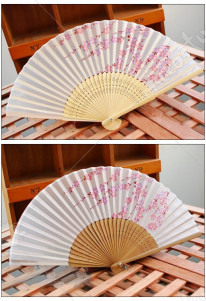 Japanese Sakura Silk Fan