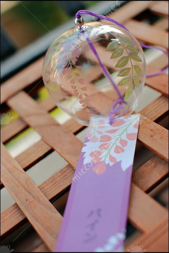 Japanese Wisteria Glass Wind Chime