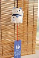 Japanese Fortune Cat Ceramic Wind Chime