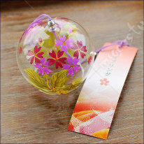 Japanese Glass Wind Chime Flower