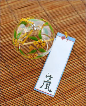 Japanese Flower Glass Wind Chime