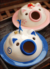 Japanese Piggy Ceramic Mosquito Coil Burner