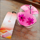 Japanese Flower Fan Glass Wind Chime