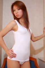 White Japanese School Swimsuit Gym Suit