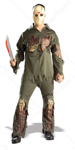 Friday the 13th Jason Voorhees Deluxe Standard Size Adult Costume