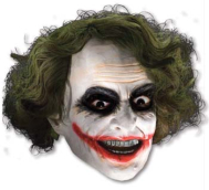 Joker 3 4 Vinyl Mask W Hair