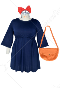 [Free Shipping]Plus Size Kikis Delivery Service Halloween Cosplay Costume Witch Dress