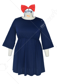 Plus Size Kikis Delivery Service Halloween Cosplay Costume Witch Dress