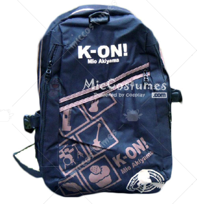 K ON Mio Akiyama Purple Print Black School Bag