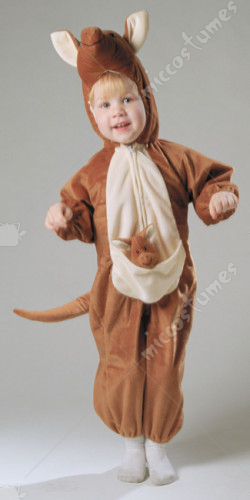 Kangaroo Plush With Baby Costume