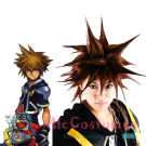 Kingdom Hearts II Sora SPIKY Cosplay Wig