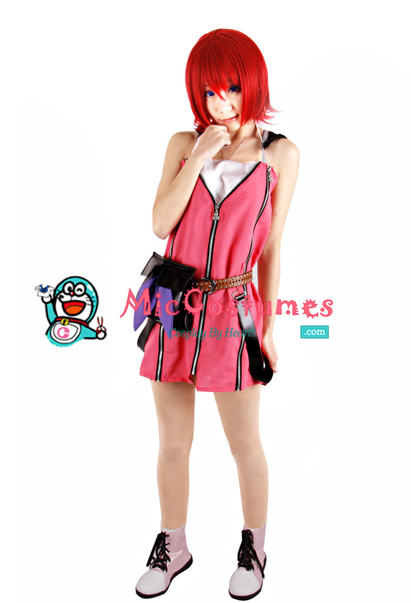 Kingdom Hearts Kairi Rote Kleider Cosplay Kostüme