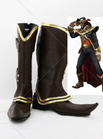 League of Legends Card Master Twisted Fate Cosplay Shoes