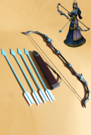 League of Legends Frost Archer Ashe Cosplay Bow and Arrow