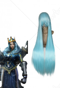 League of Legends LOL Queen Ashe Cosplay Wig