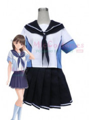 Love Plus Girls Summer School Uniform Cosplay Costume