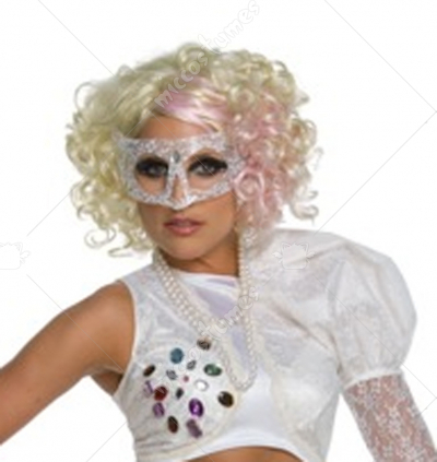 Lady Gaga Blonde Wig With Pink